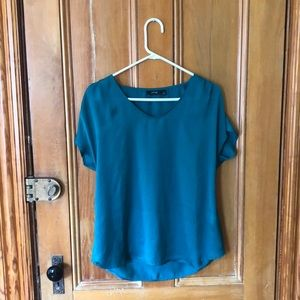 Teal jewel toned blouse